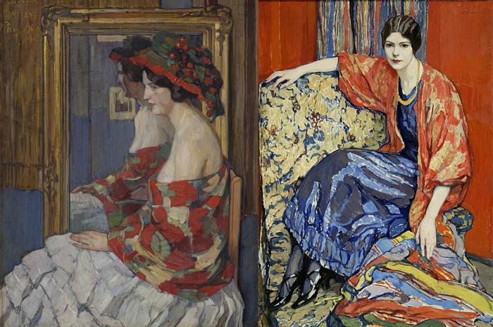 Справа - одна изсамых известных портретных работ Киселевой.