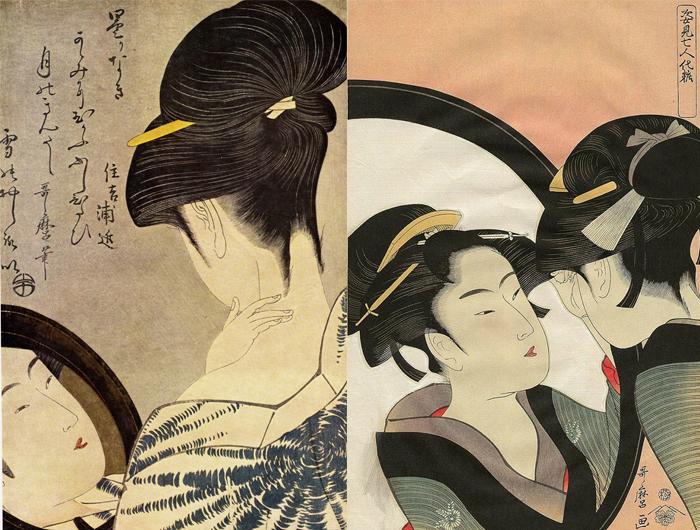Утамаро волновали реальные чувства женщин, их быт, их привычки.