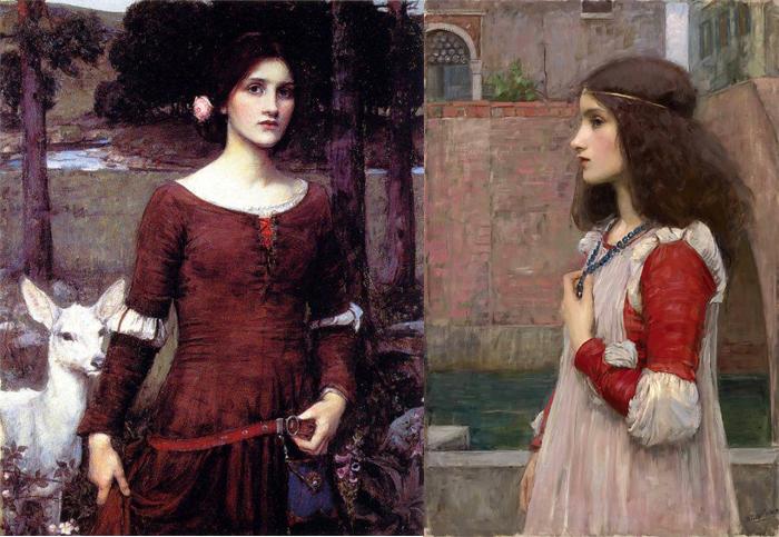 Леди Клэр (слева), Джульетта (справа).