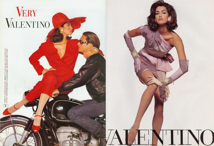 Ясмин Гаури в рекламе Valentino.