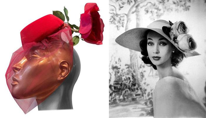 Шляпки с искусственными цветами.