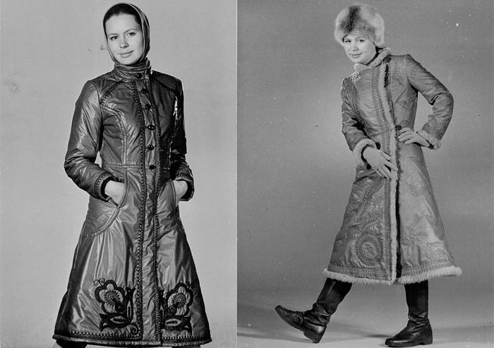 Элегантные стеганые пальто.