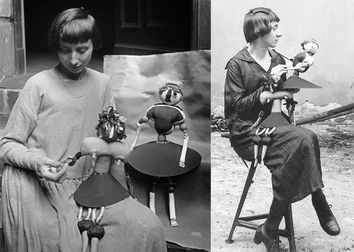Ханна Хёх занималась живописью, коллажем, мастерила кукол и другие художественные объекты.