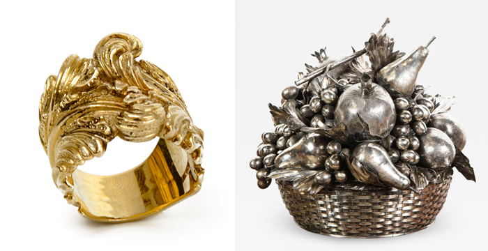 Золотые украшения с напылением.