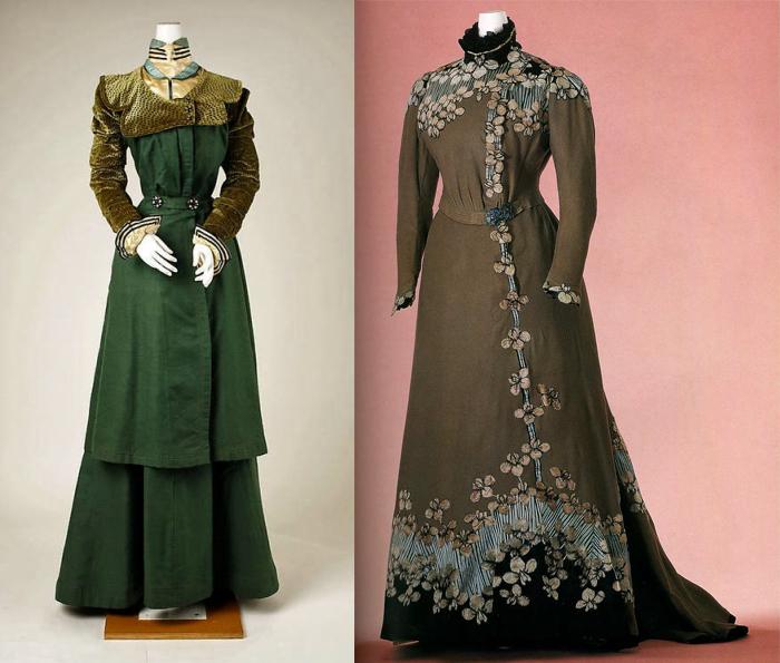 Костюм и повседневное платье от Жака Дусе.