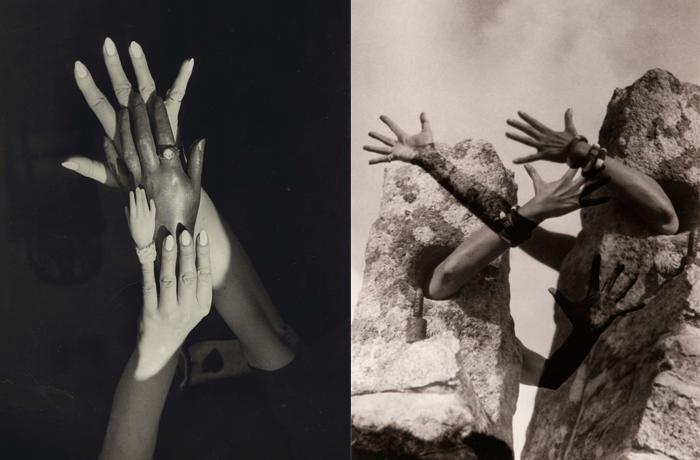 Руки - также частый мотив творчества Клод Каон.