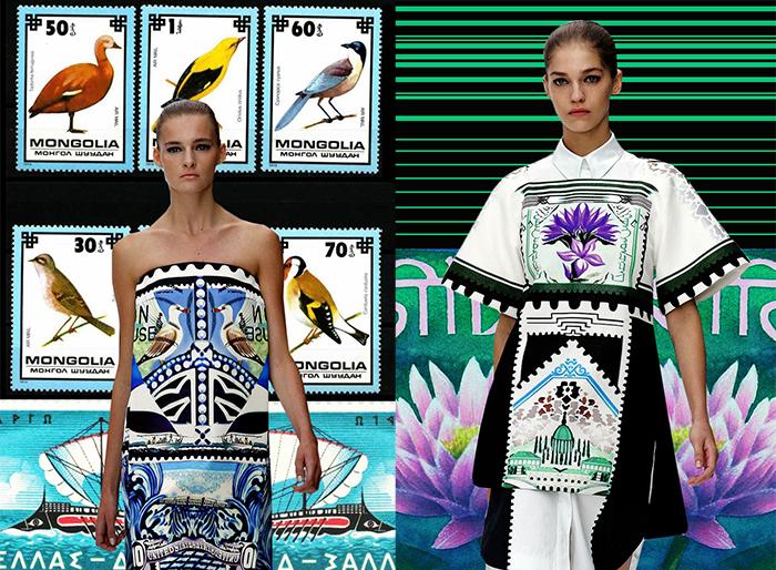 Коллекция Катранзу, вдохновленная марками.