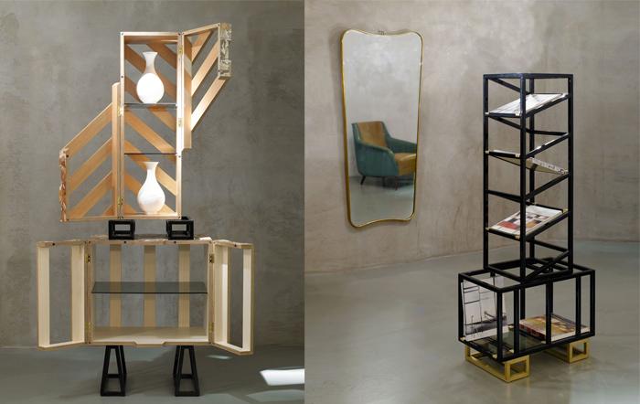 Дорогая мебель в стиле складского оборудования.