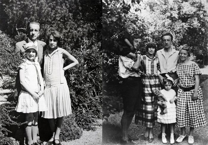 Гала, Поль и Сесиль. Макс Эрнст с сыном и женой, Гала с мужем и дочерью.
