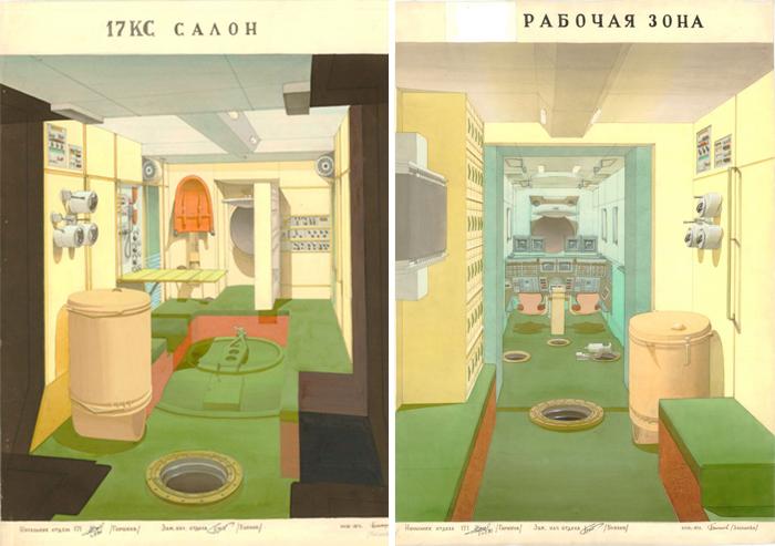 Проекты интерьеров орбитальной станции.