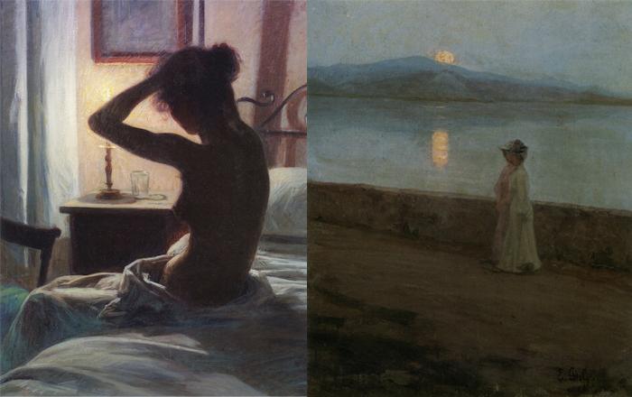 Справа - итальянский этюд Элин.