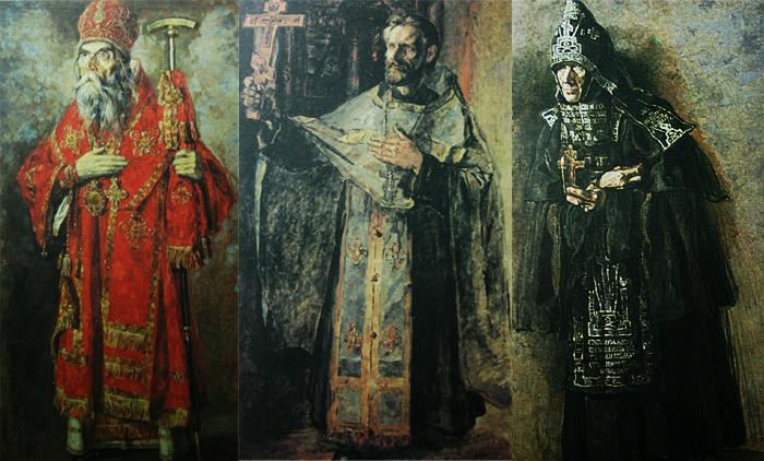 Образы деятелей русской православной церкви.