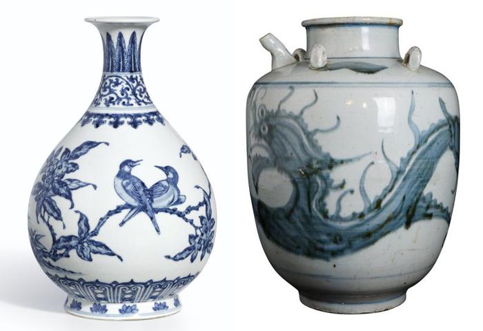 Бело-голубой китайский фарфор стал образцом для европейского.