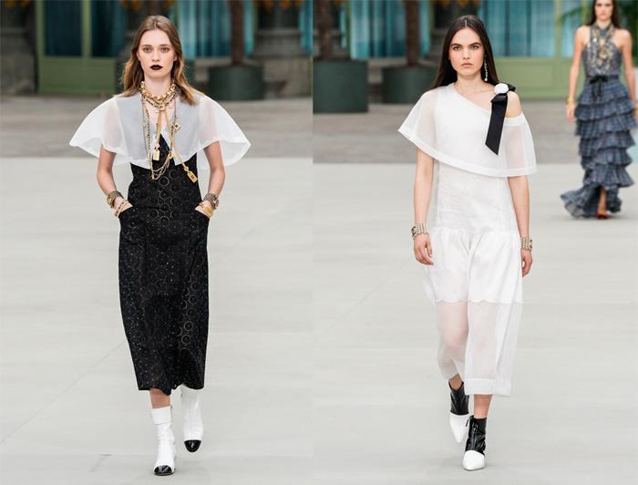Сочетание черного и белого даже в обуви - узнаваемый прием бренда.