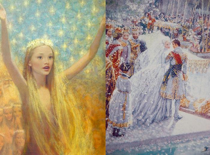 Иллюстрации Кристиана Бирмингема к европейским сказкам.