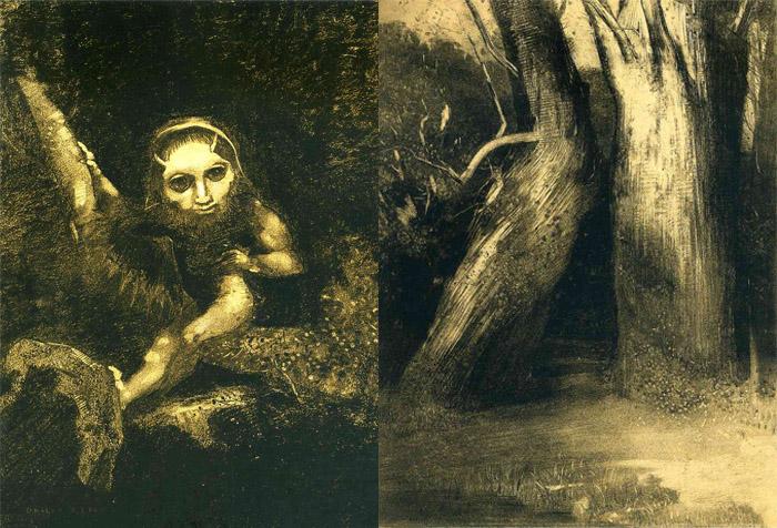 Мрачные работы Редона - наследство странного детства.