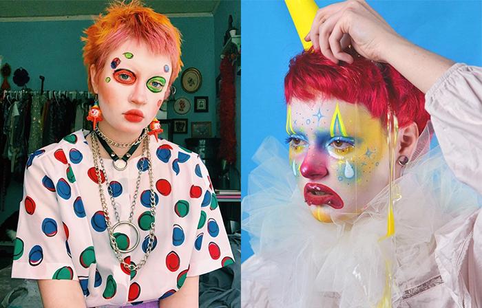Макияж в клоунском стиле