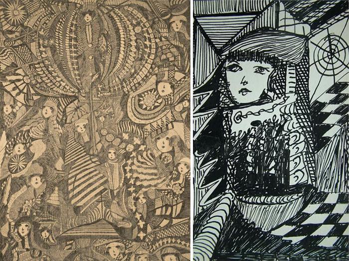 Мадж говорила, что истинный автор ее работ - загадочный дух.