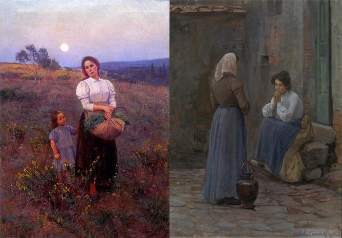 Живые, земные образы с картин Элин со временем покорили сердца даже итальянских критиков.