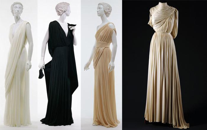 Платья в античном духе.