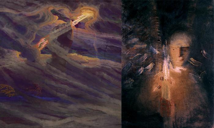 Работы Чюрлениса вызвали интерес у русских художников.