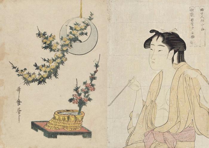 Утамаро - классик японской гравюры.