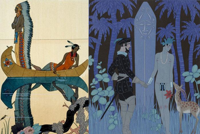 Иллюстрации к истории Покахонтас.