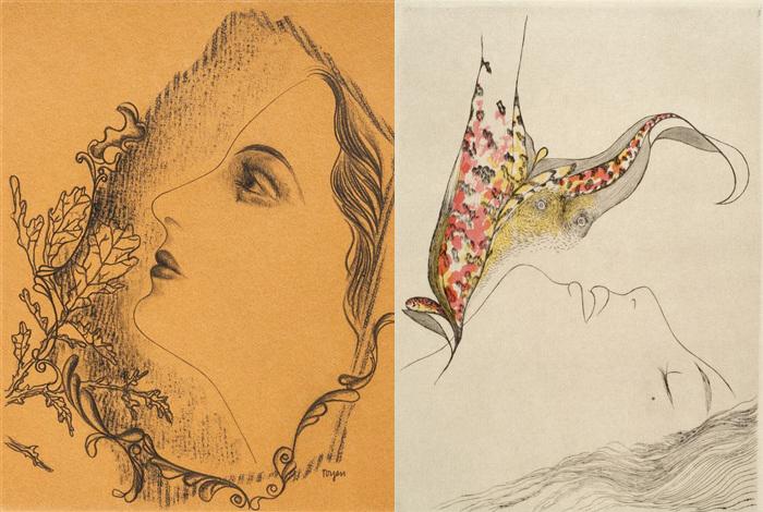 Графика Марии Тойен несет на себе печать эротизма.