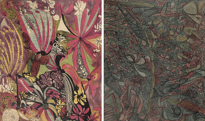 Абстрактные рисунки Мадж Гилл.