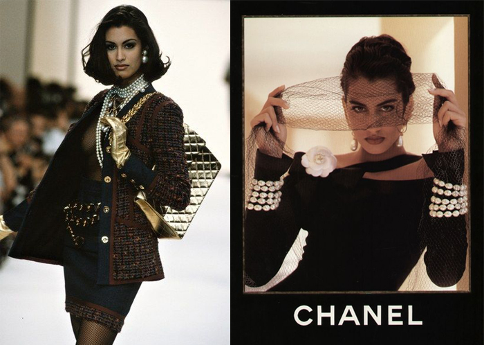 Ясмин на показе и в рекламной кампании Chanel.