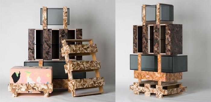 Мебель с отсылками к складскому оборудованию.
