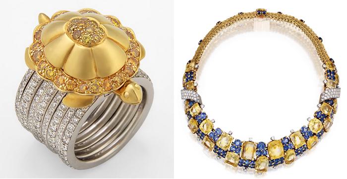Кольцо и колье от ювелирного дома Маршак.