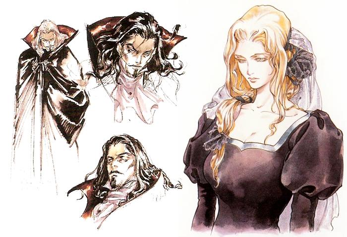 Эскизы для игровых персонажей.