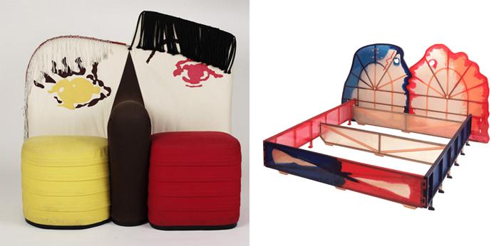 Кресло и кровать от Гаэтано Пеше.