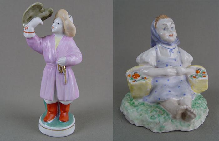 Малышева предпочитала нежные оттенки в раскраске скульптур.
