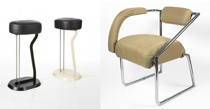 Мебель с металлическими трубками.