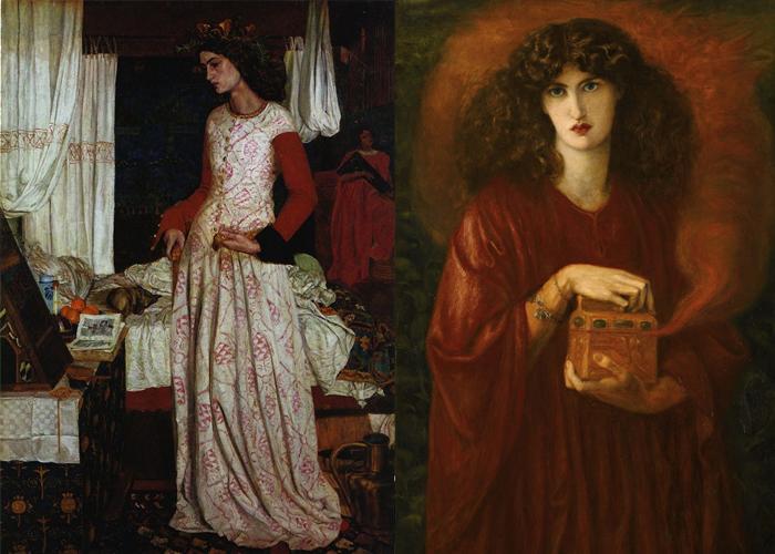 Джейн Берден на полотнах Уильяма Морриса и Данте Габриеля Россетти.