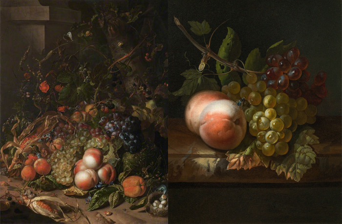 Редкие натюрморты Рюйш с изображением фруктов.