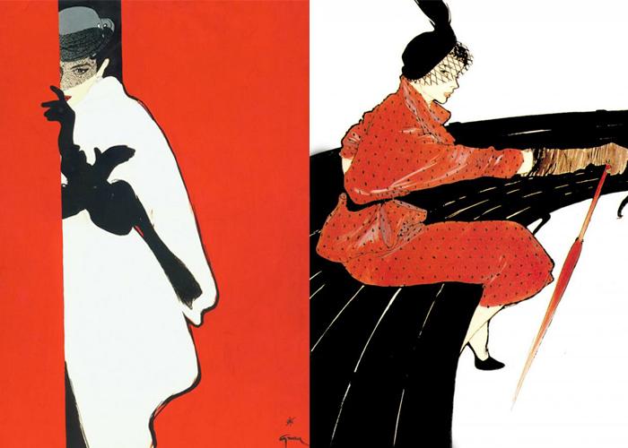 Женщины на иллюстрациях Грюо неизменно элегантны.