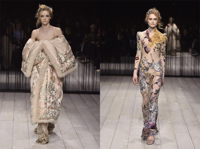 Коллекция Сары Бертон. Образы модного дома остаются неизменными.