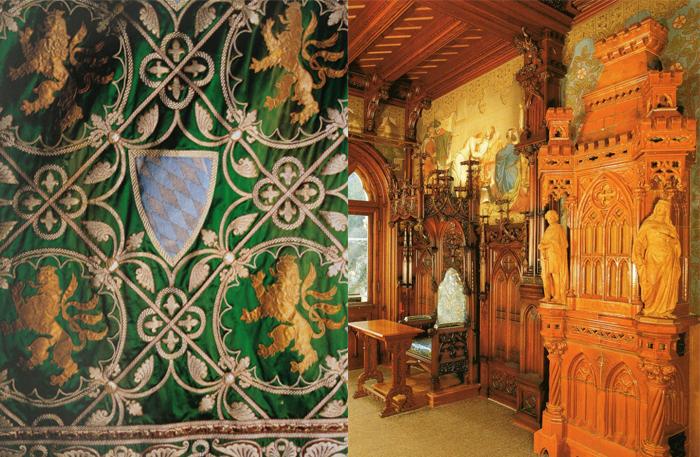 Детали убранства, напоминающие о рыцарских временах.