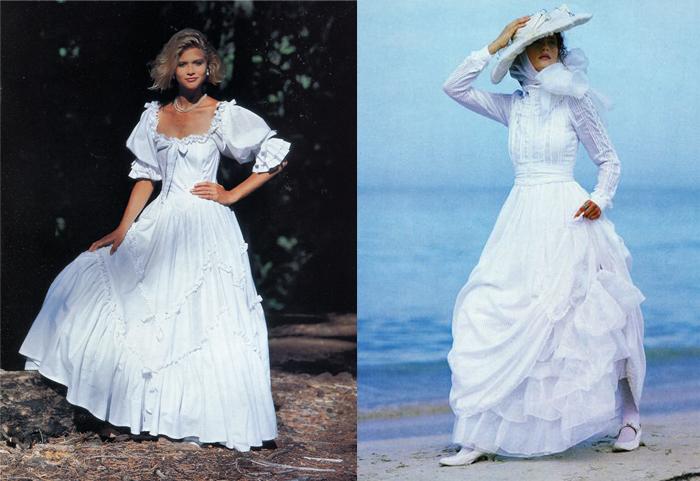 Платья с викторианскими мотивами.