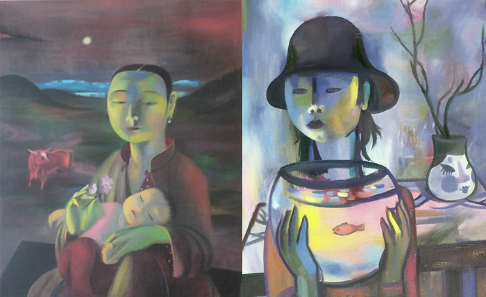 Алла Цыбикова сочетала традиции буддистской живописи и французского фовизма.