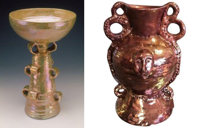 Вазы, переосмысляющие доцивилизационную керамику.