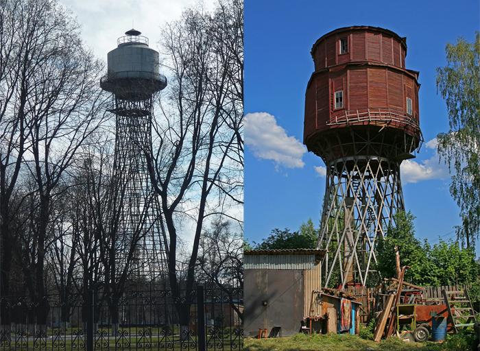 Водонапорные башни Шухова в городах России.