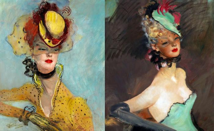 Домерга прославили портреты красивых женщин в своеобразном стиле.
