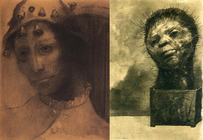 Редон рисовал свои страшные сны.