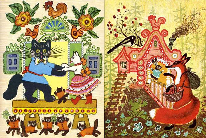 Иллюстрации русских сказок.