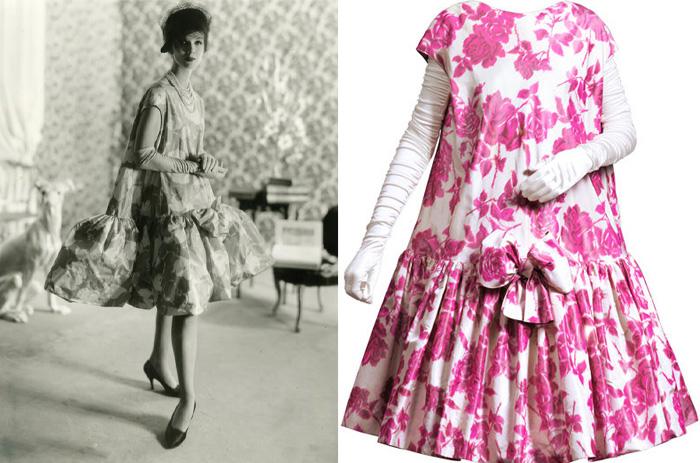 Платье, созданное Кристобалем Баленсиагой.
