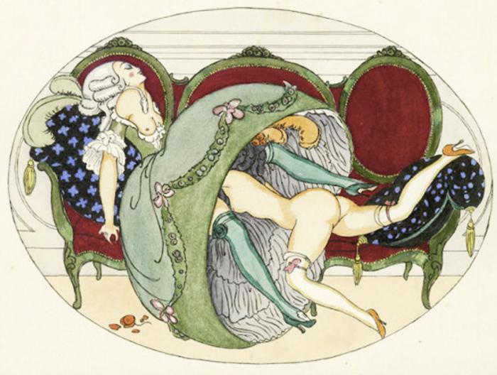 Герда Вегенер любила изображать женщин в интерьерах и костюмах рококо.